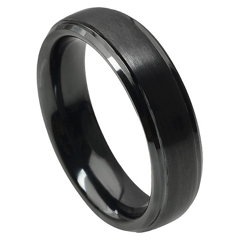 Men's Daxx Ceramic Band with Brushed Finish - Black (6mm) - image 1 of 4
