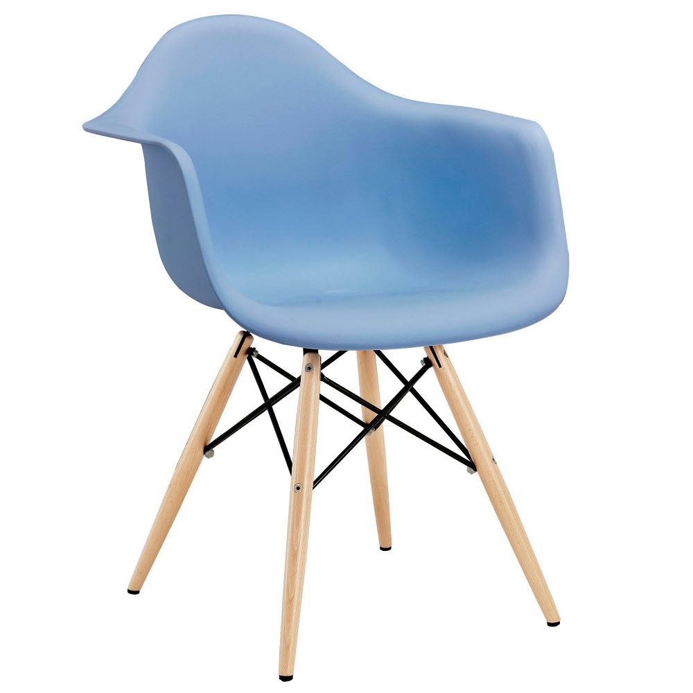 Pyramid Dining Armchair Blue - Modway