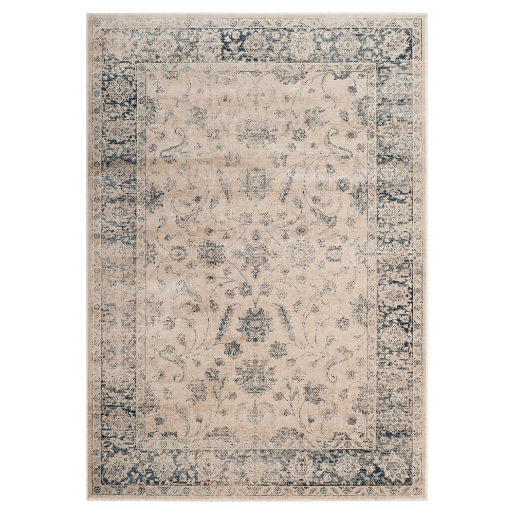 Stone/Blue (Grey/Blue) Botanical Loomed Accent Rug - (4'X5'7) - Safavieh
