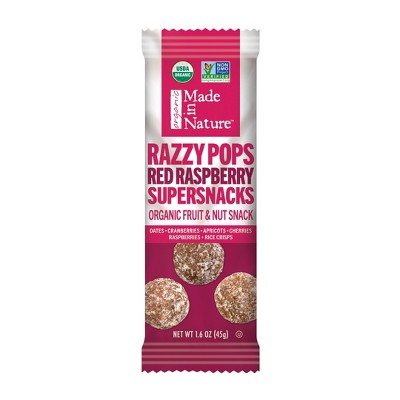 Dried Fruit & Raisins: Made in Nature RazzyPops