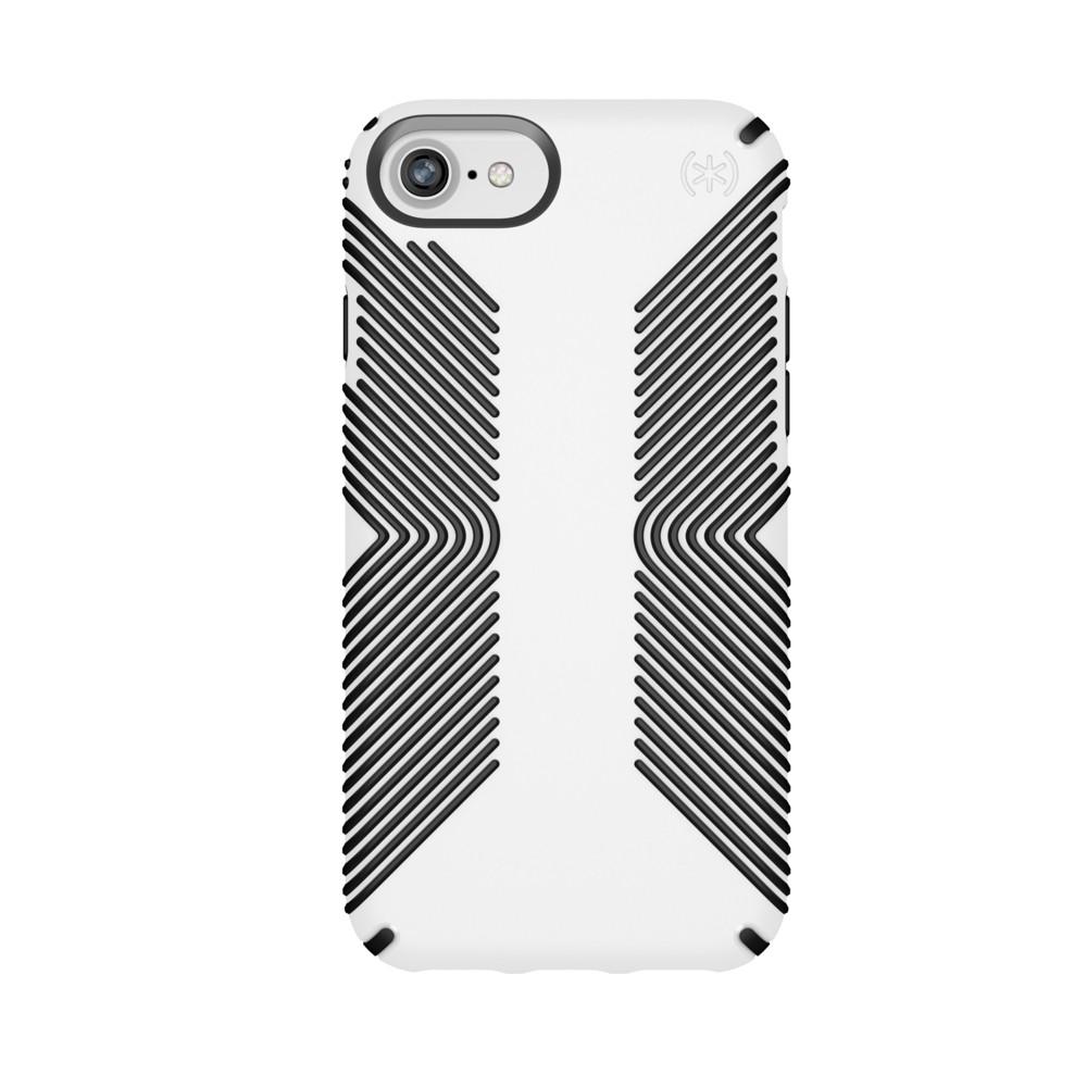 Speck Apple iPhone 8/7/6s/6 Presidio Grip Case - White/Black, White Black