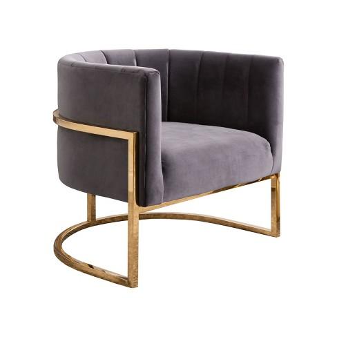 Outstanding Fendi Channel Tufting Velvet Accent Chair Abbyson Living Machost Co Dining Chair Design Ideas Machostcouk