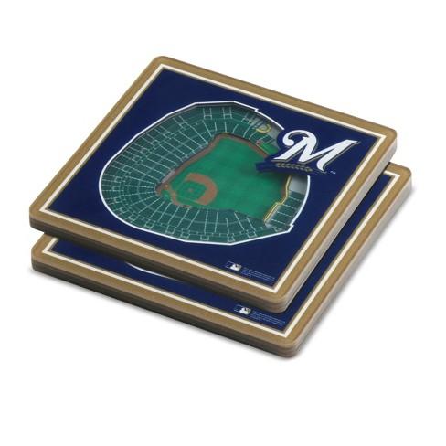 official photos 3107b 5d3a1 MLB Milwaukee Brewers StadiumView Coaster 2pk