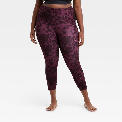 """Women's Leopard Print Contour Power Waist High-Rise 7/8 Leggings 24"""" - All in Motion™ - image 1 of 4"""