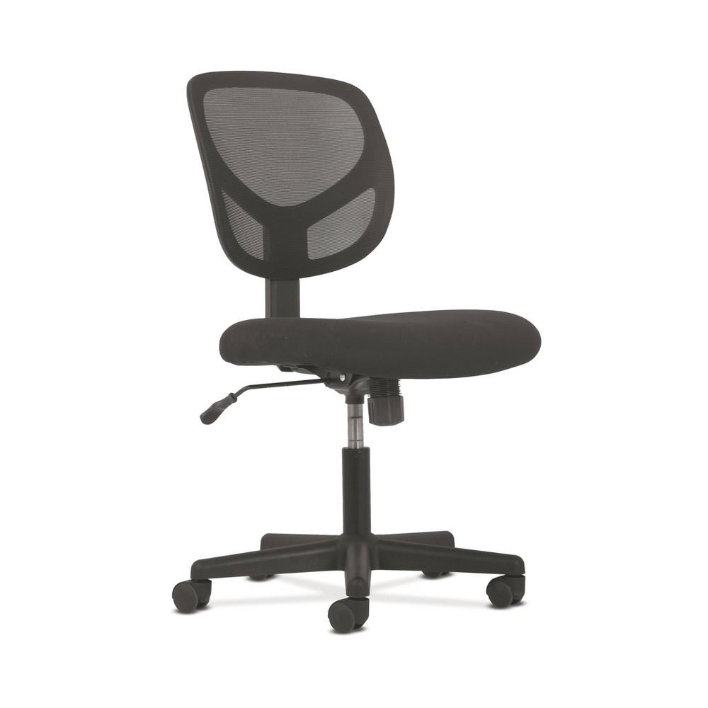 Sadie Ergonomic Swivel Mid Back Mesh Task Chair Without Arms Black - Hon
