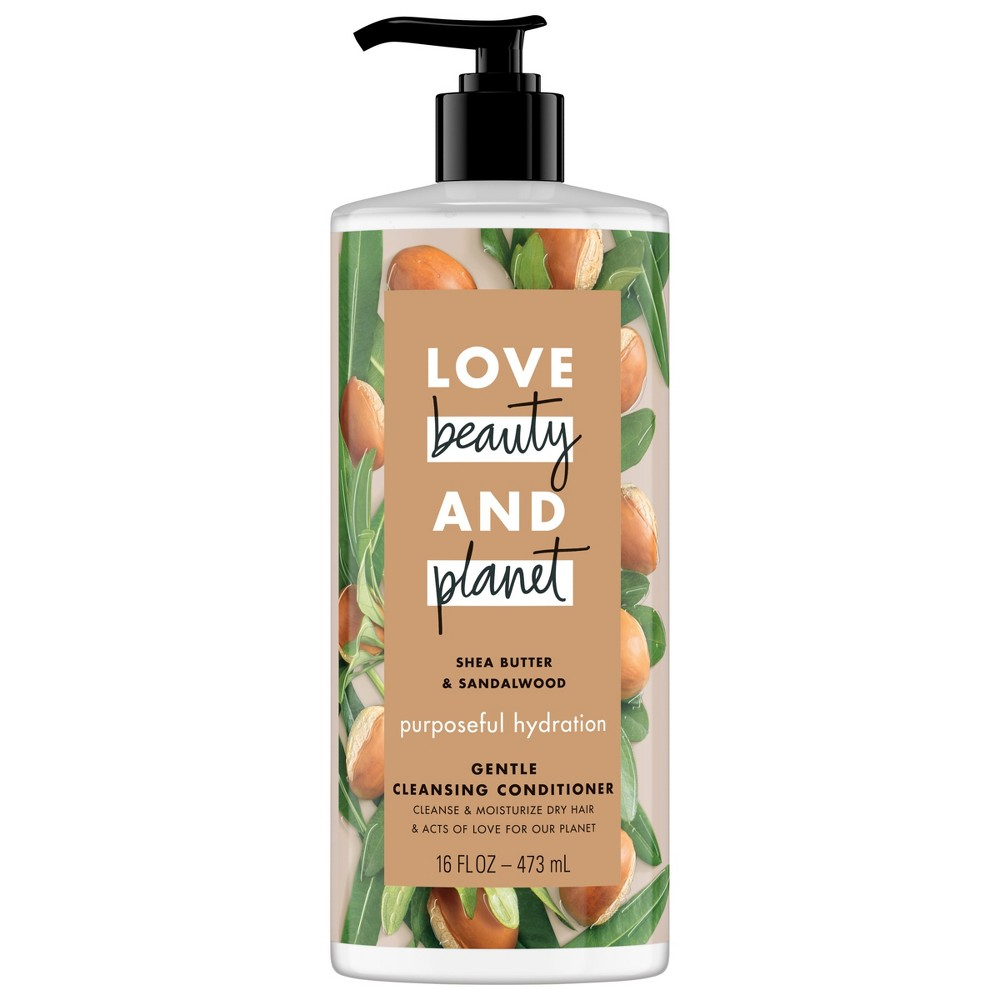 Image of Love Beauty & Planet Shea Butter & Sandalwood Purposeful Hydration Gentle Cleansing Conditioner - 16 fl oz