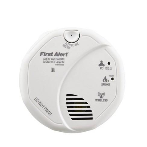 Battery Operated Wireless Interconnected Combination Smoke and Carbon Monoxide Alarm with Voice Location SCO501CN-3ST - First Alert - image 1 of 9