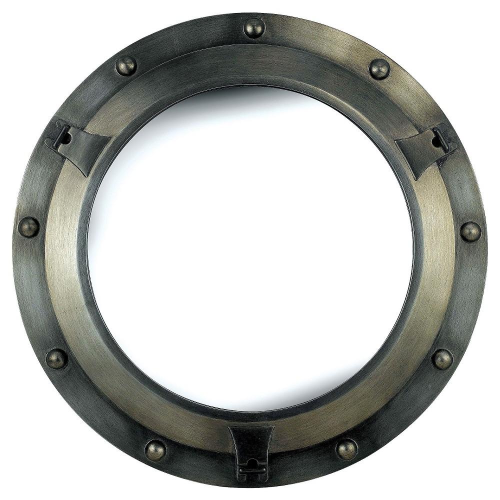 Round Decorative Wall Mirror Industrial Gray - Kenroy Home, Industrial Grey