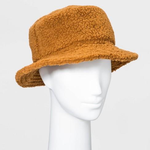 Women's Sherpa Bucket Hat - Camel - image 1 of 1