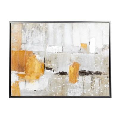 "36"" x 48"" Contemporary Framed Abstract Canvas Wall Art - Olivia & May"