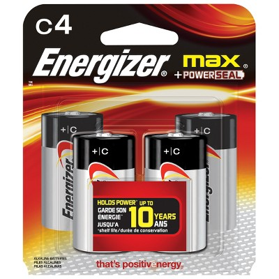 Energizer Max C Batteries 4 ct