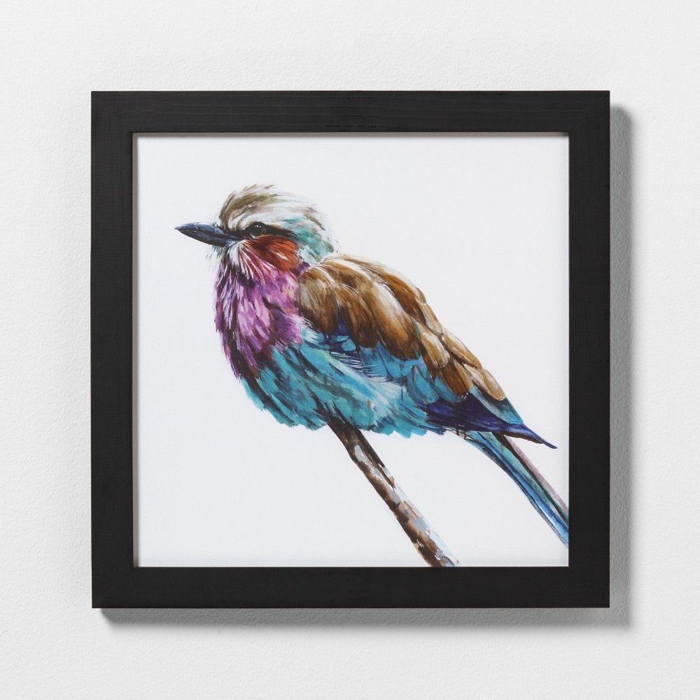 """Image of """"16"""""""" X 16"""""""" Colorful Bird Wall Art with Black Wood Frame - Hearth & Hand with Magnolia"""""""