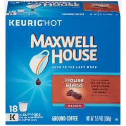 Maxwell House Café Collection House Blend Medium Roast Coffee - Keurig K-Cup Pods - 18ct