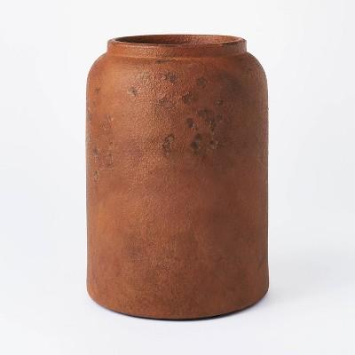 "11"" x 8"" Rustic Vase Brown - Threshold™ designed with Studio McGee"