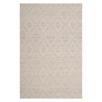 3'X5' Geometric Accent Rug Silver/Ivory - Safavieh