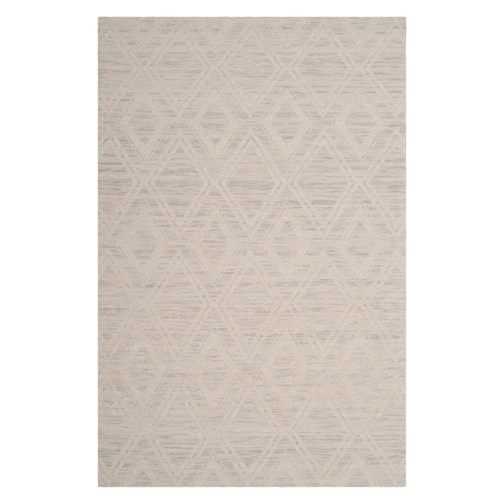 3X5 Geometric Accent Rug Silver/Ivory - Safavieh Coupons