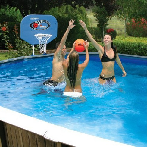 Poolmaster Above Ground Poolside Combo Basketball/Volleyball Game ...