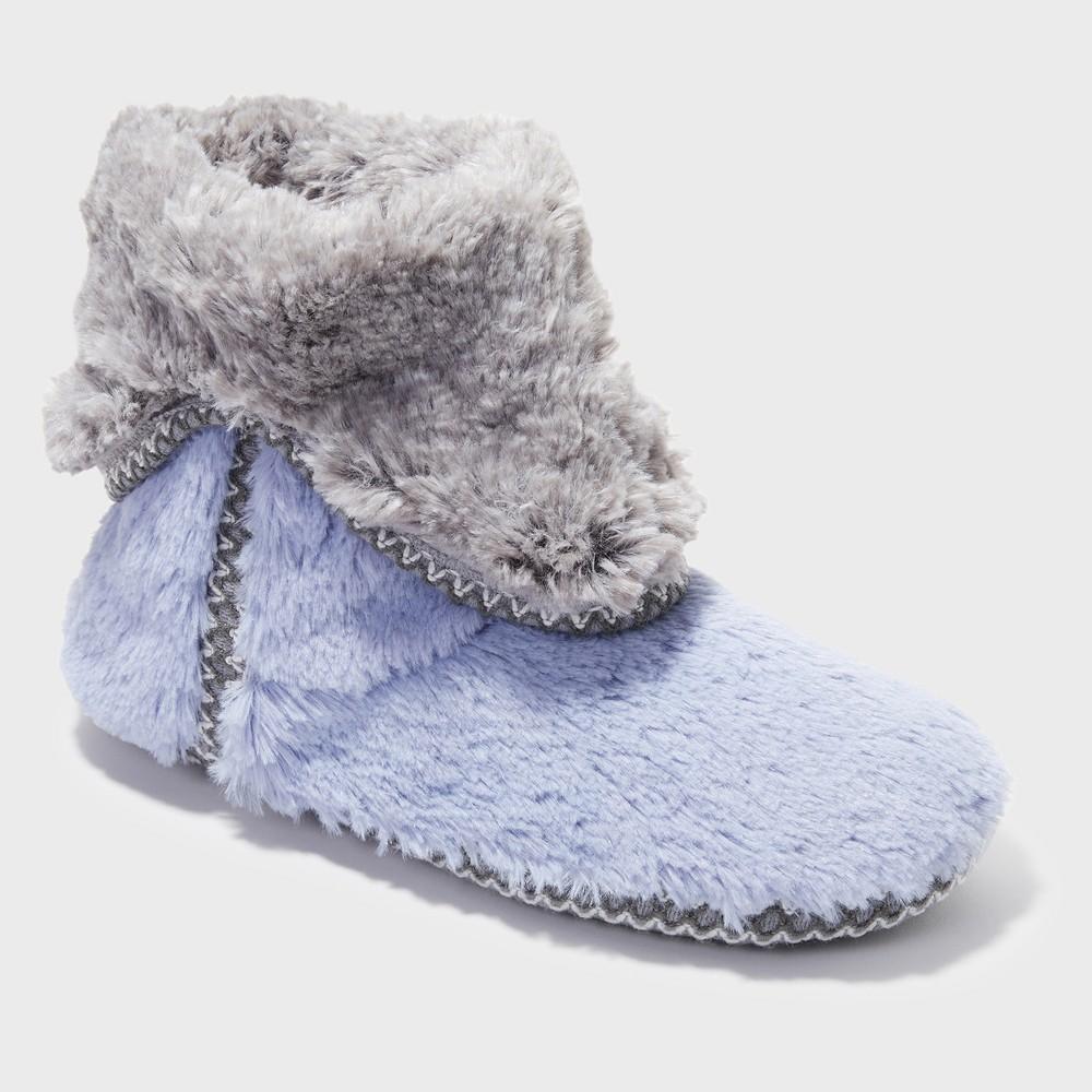 Women's Dearfoams Bootie Slippers - Blue XL