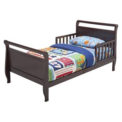 Delta Children Wood Sleigh Toddler Bed, Black Cherry Espresso