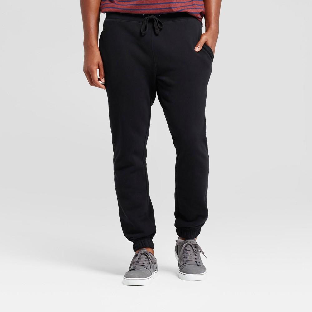 Men's Fleece Jogger Pants - Goodfellow & Co Black Xxl