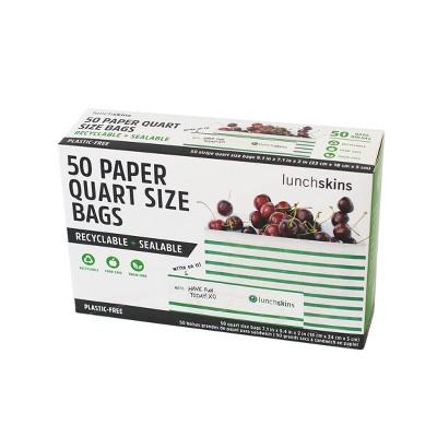 LunchSkins Paper XL Sandwich Bag - Green Stripe - 50ct