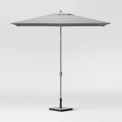 6.5' x 10' Rectangular Patio Umbrella Ash Pole - Project 62™