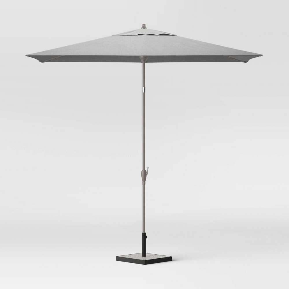 Image of 10' Rectangular Patio Umbrella Pebble - Ash Pole - Project 62