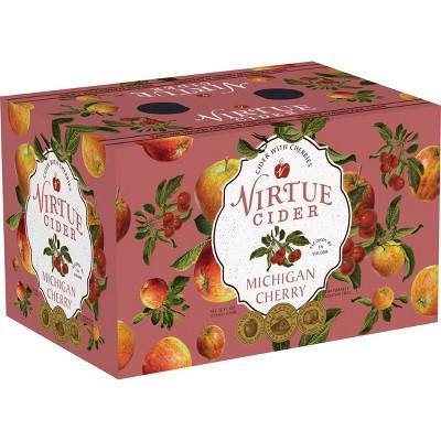 Virtue Michigan Cherry Hard Cider - 6pk/12 fl oz Cans