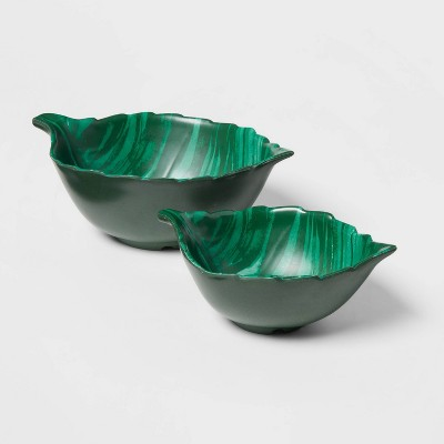 2pc Melamine and Bamboo Leaf Nesting Bowl Set - Opalhouse™