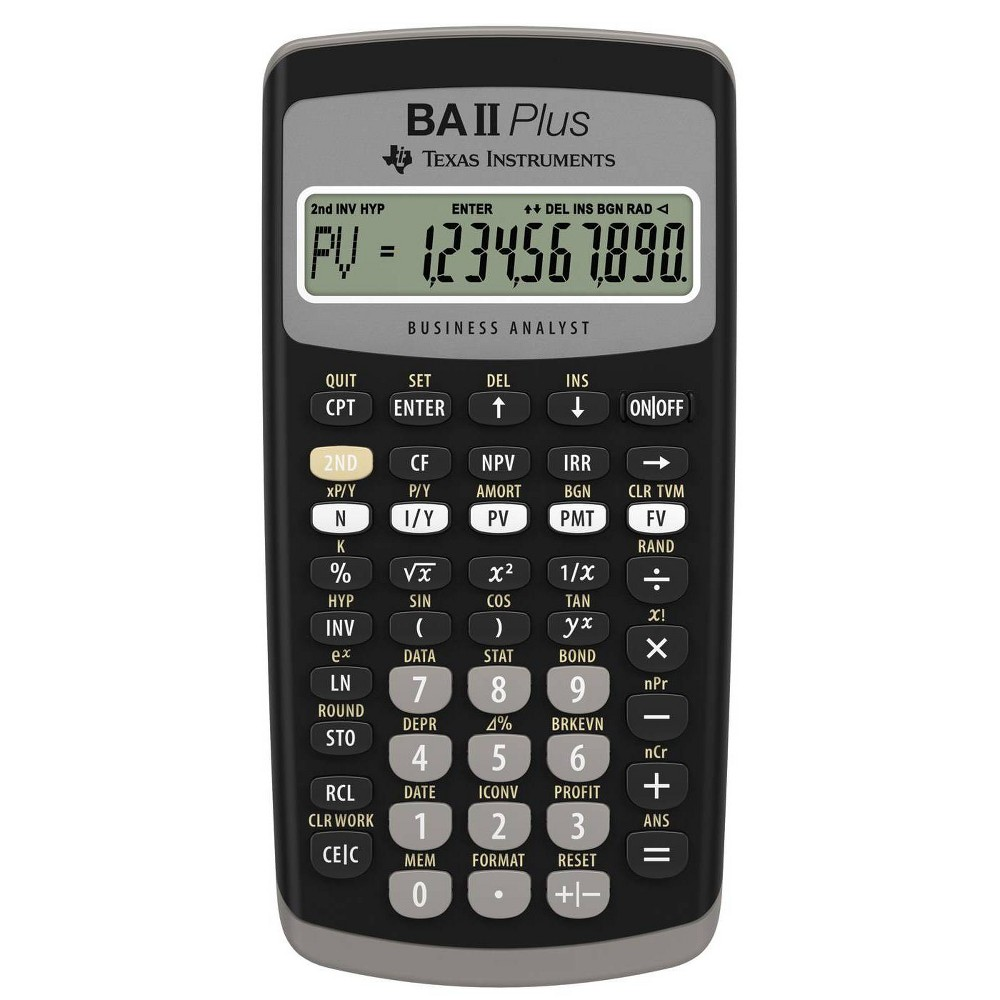 Texas Instruments Baii Plus Calculator