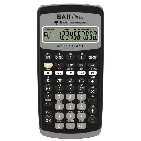 Texas Instruments BAII Plus Calculator - image 1 of 3