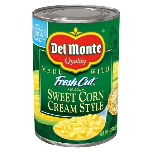 del monte fresh cut cream style golden sweet corn 14 75 oz target