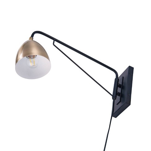 Masefield Wall Mounted Reading Light Golden Bronze Lamp Only Aiden Lane