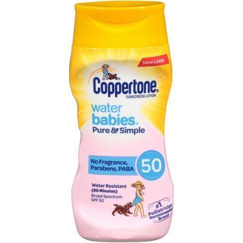 Coppertone Waterbabies Pure & Simple Free Sunscreen Lotion - SPF 50 - 6oz - image 1 of 2
