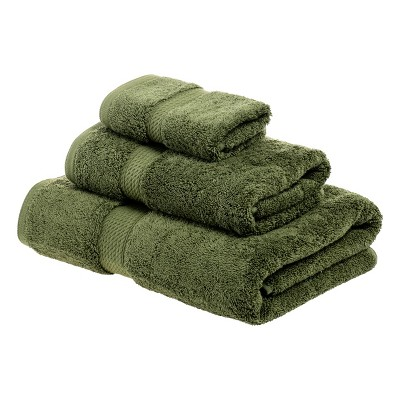 Plush and Absorbent Cotton Assorted 3-Piece Towel Set - Blue Nile Mills