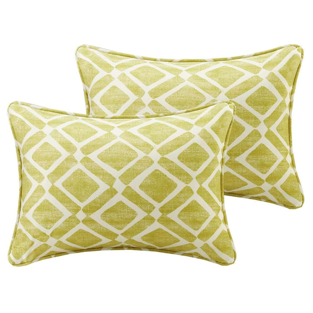 Green Natalie Printed Oblong Throw Pillow Pair (14