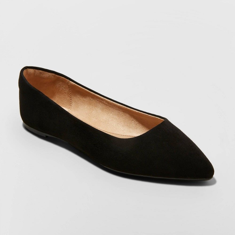 Women 39 S Corinna Pointed Toe Ballet Flats A New Day 8482 Black 9