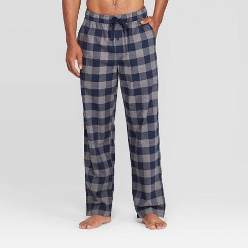 Men's Plaid Flannel Pajama Pants - Goodfellow & Co™ Gray - image 1 of 2