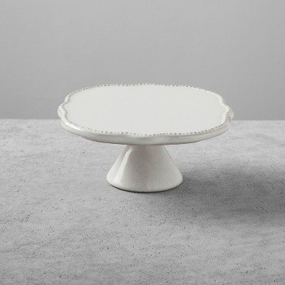 Stoneware Cake Stand Small Cream - Hearth & Hand™ with Magnolia