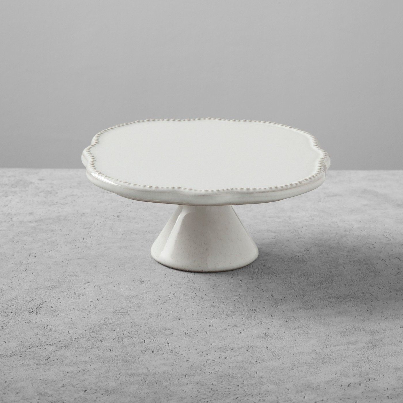 Stoneware Cake Stand Small Cream - Hearth & Hand™ with Magnolia - image 1 of 2