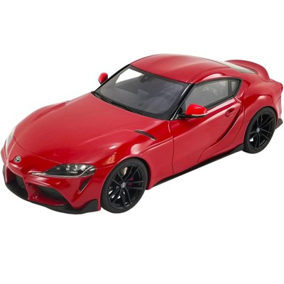 """2021 Toyota Supra GR 3.0 Renaissance Red with Black Wheels """"USA Exclusive"""" Series 1/18 Model Car by GT Spirit for ACME"""