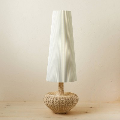 Rattan Floor Lamp (Includes LED Light Bulb) Brown - Opalhouse™ designed with Jungalow™