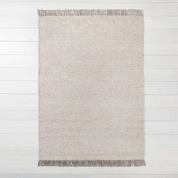 Bleached Jute Rug with Fringe Gray - Hearth & Hand™ with Magnolia
