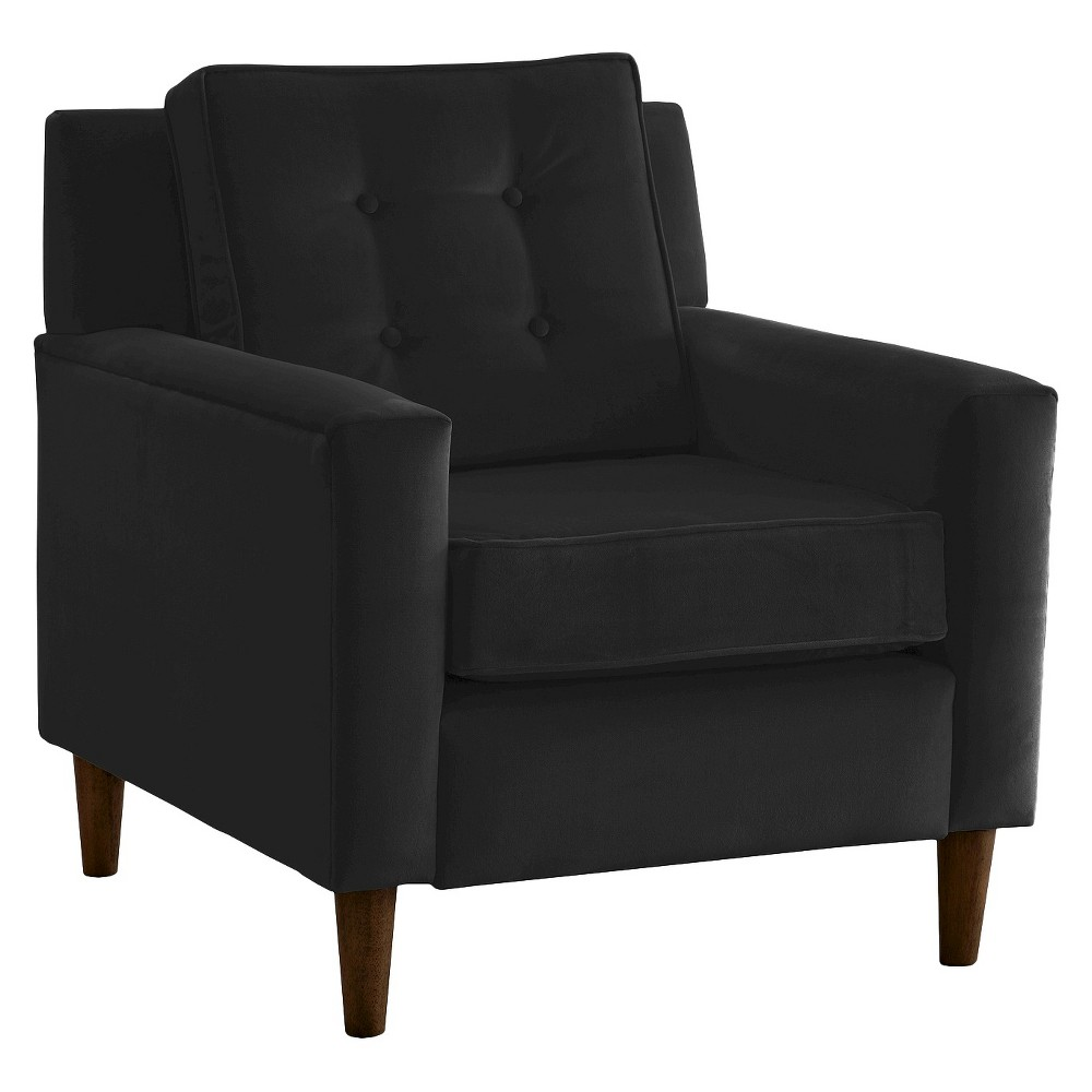 Skyline Custom Upholstered Arm Chair - Skyline Furniture, Velvet Black