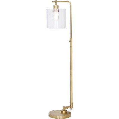 Hudson Industrial Floor Lamp Brass - Threshold™