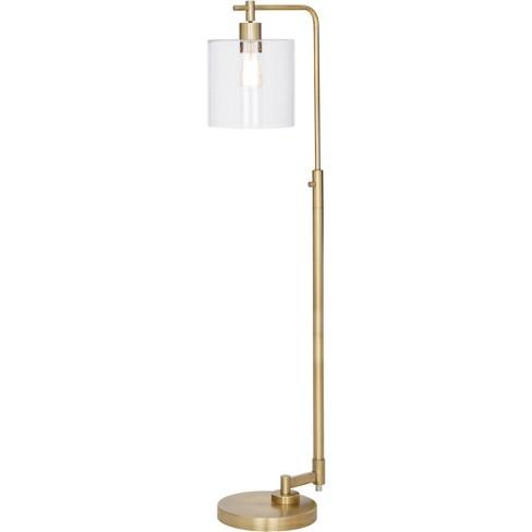 Hudson Industrial Floor Lamp Brass Lamp Only Threshold