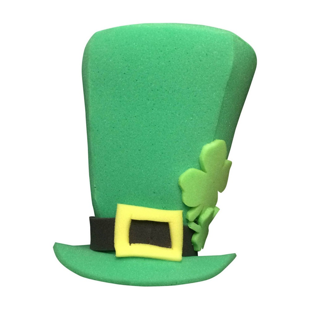 Image of Halloween Adult St. Patrick's Day Clover Top Hat Costume One Size, Adult Unisex, Green