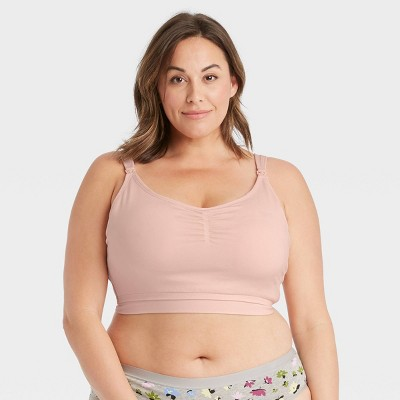 Women's Plus Size All-in-One Nursing and Pumping Bra - Auden™ Casual Pink 3X