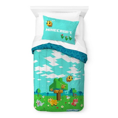 Twin Minecraft Beautiful Day Comforter