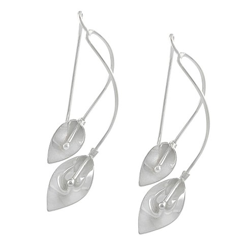 Women's Tressa Collection Sterling Silver Calla Lily Spiral Dangle Earrings - image 1 of 2